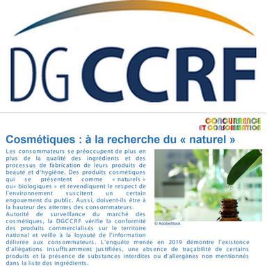 Quand la DGCCRF part à la recherche du naturel