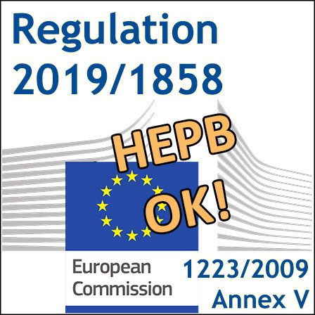 HEPB: a new preservative is added in Annex V to the Cosmetics Regulation