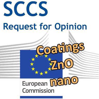 Enrobages de Zinc oxide (nano) : demande d'Opinion au CSSC