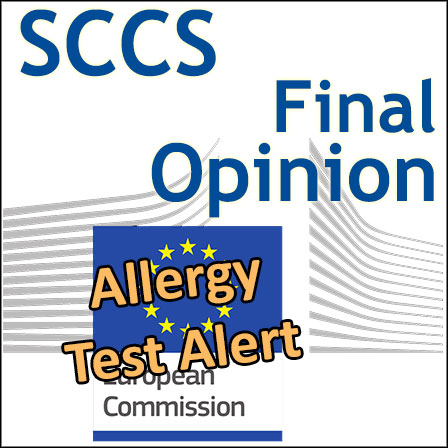 AAT (Allergy Alert Test): final Opinion of the SCCS