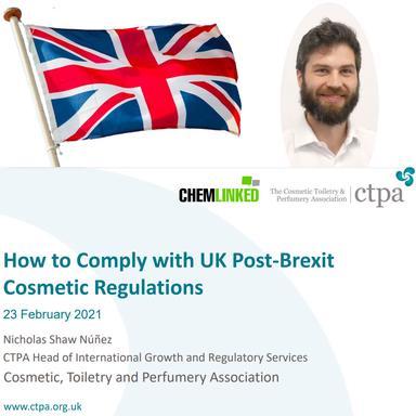 La réglementation cosmétique britannique post-Brexit