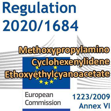 Règlement 2020/1684 : un nouveau filtre UV dans l'Annexe VI du Règlement Cosmétiques