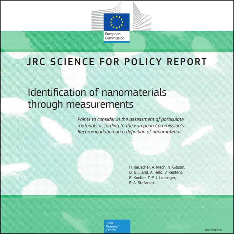 Identification of nanomaterials: the JRC recommends appropriate methods