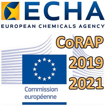 Proposition de l'ECHA pour le CoRAP2019-2021