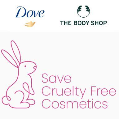 """Dove et The Body Shop s'associent à l'ICE """"Stop à la cruauté dans les cosmétiques"""""""