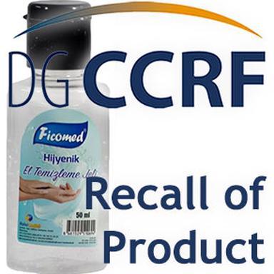 Rappel de gel hydro-alcoolique de la marque Ficomed Hijyenik