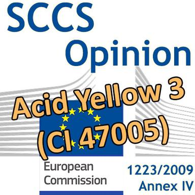 Acid Yellow 3 (CI 47005) : Opinion préliminaire du CSSC