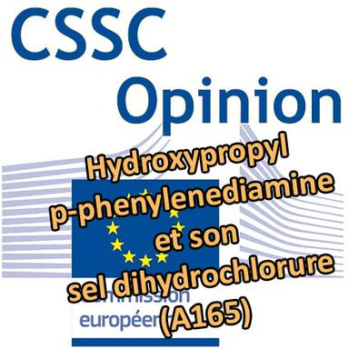 Hydroxypropyl p-phenylenediamine (A165) : Opinion du CSSC