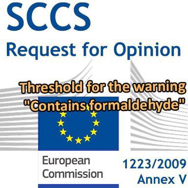 """Seuil pour la mention """"Contient du formaldéhyde"""" : demande d'Opinion au CSSC"""