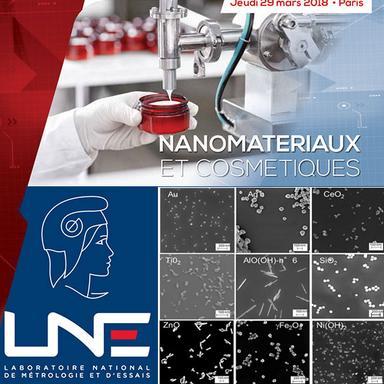 Logo LNE et images de nanomatériaux