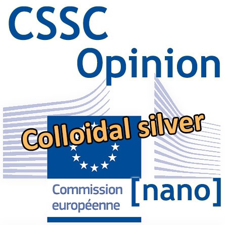 Logo Commission européenne - Opinion CSSC Colloidal silver