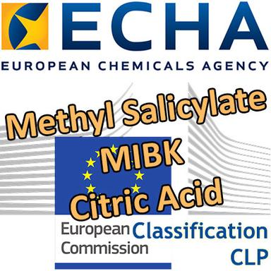 Methyl salicylate, MIBK, Citric acid... : Opinions du RAC sur une classification harmonisée