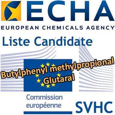 2 ingrédients cosmétiques ajoutés à la Liste Candidate (REACH)