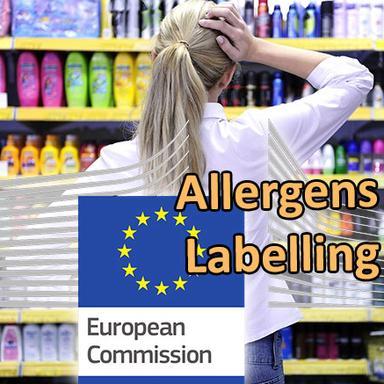 Evaluation de l'impact d'un étiquetage élargi des allergènes sur les produits cosmétiques par la Commission européenne