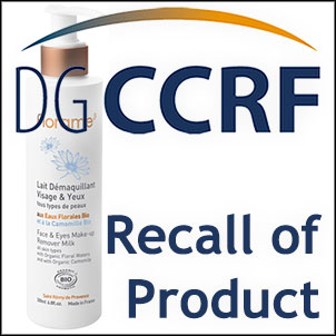 Recall of a Florame make-up remover