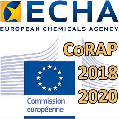 Logo Commission européenne - Logo ECHA - CoRAP 2018-2020