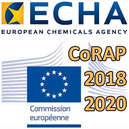 Logo Commission européenne - Logo ECHA - CoRAP2018-2020