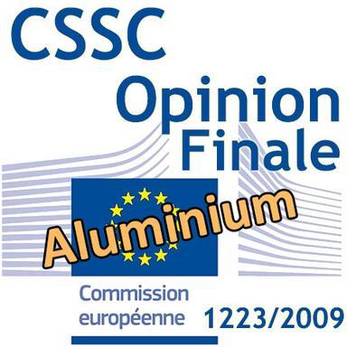 Aluminium dans les produits cosmétiques : Opinion finale du CSSC