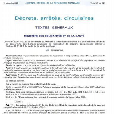 ANSM : 1400 € le certificat BPF