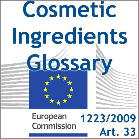 European cosmetic ingredients glossary