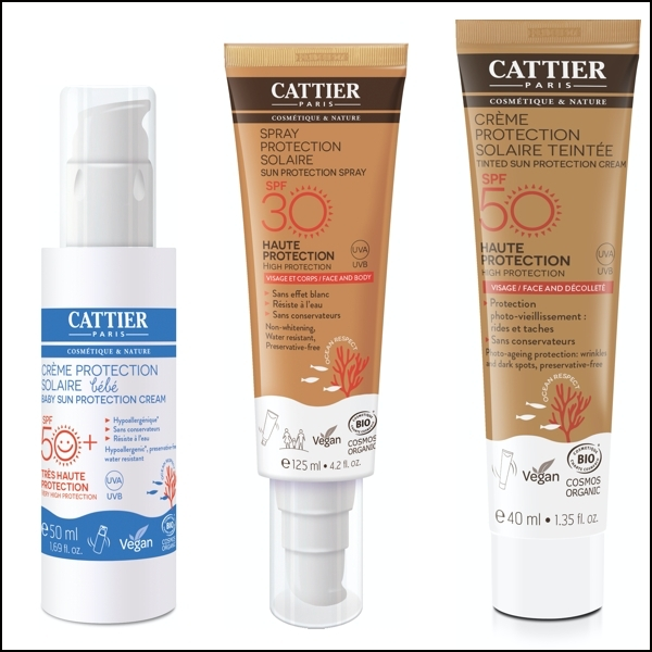 Cattier takes on organic sun products