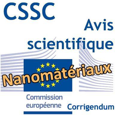 Corrigendum à l'Avis scientifique du CSSC sur la sécurité des nanomatériaux en cosmétiques