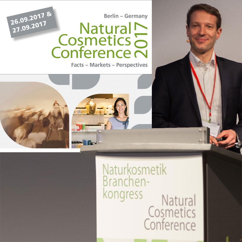 Stefan Bures at the Naturkosmetik Branchencongress