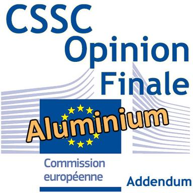 Addendum à l'Opinion du CSSC sur l'aluminium : version finale