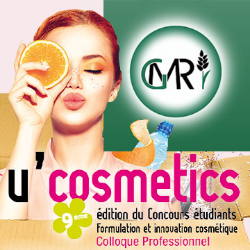 U'Cosmetics poster and GMR logo