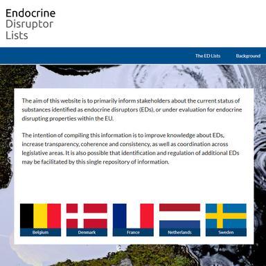 Une nouvelle liste de perturbateurs endocriniens