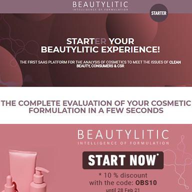 Beautylitic Starter : l'analyse complète d'une formulation cosmétique en 1 clic