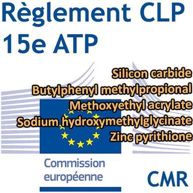 15e ATP du CLP : 5 ingrédients cosmétiques classés CMR 1