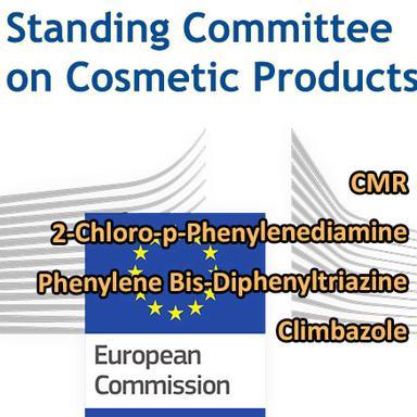 4 projets de Règlements approuvés par le Comité permanent pour les produits cosmétiques