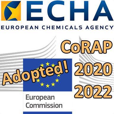 """L'ECHA adopte le CoRAP 2020-2022 avec 27 substances """"cosmétiques"""""""