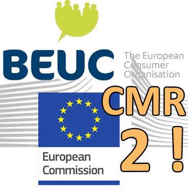 Drapeau Commission européenne et Logo du BEUC