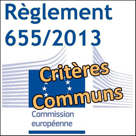 Règlement655/2013sur les Critères Communs