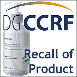 Recall of a Modologie foaming gel