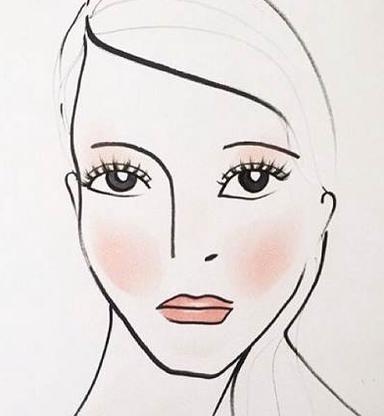 dessin de draping publié sur le compte instagram de Marc Jacobs beauty