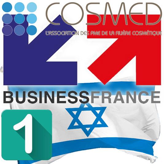 Business France Logo, Cosmed Logo, Israeli flag