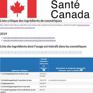 Santé Canada ajuste ses prochaines modifications de la Liste Critique des ingrédients cosmétiques