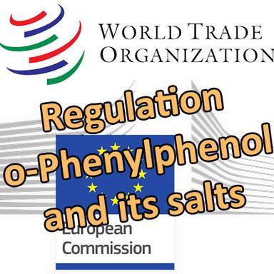 Drapeau Commission européenne et Logo de l'OMC