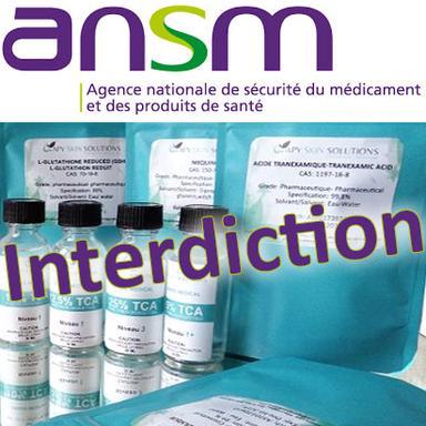 Interdiction de produits Apy Skin Solutions