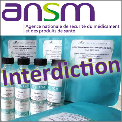 Interdiction de produits Apy Skin Solutions