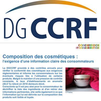 DGCCRF : Publication des résultats des enquêtes cosmétiques 2018