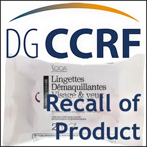 Recall of Sooa brand make-up remover wipes