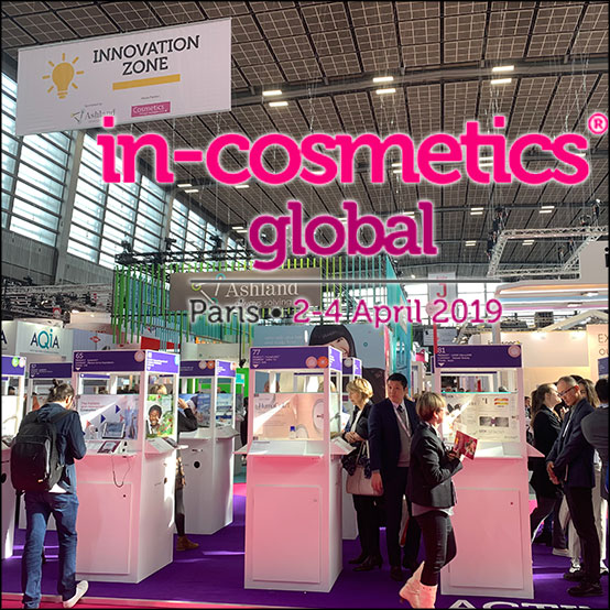 Les ingrédients primés d'in-cosmetics Global 2019