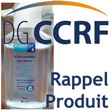Rappel de gels hydroalcooliques de la marque Kleengel
