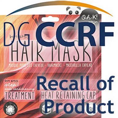 Rappel de masques pour cheveux de la marque Oh K!